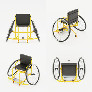 3D sport wheelchair paralympic equipment