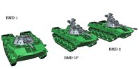 bmd-1 bmd-2 15mm scale 3D model