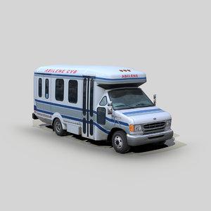 e350 econoline transit bus 3D