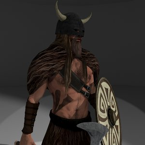 rigged barbarian 1 3D