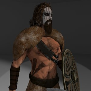 3D rigged barbarian