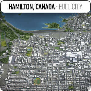 hamilton canada surrounding - 3D model