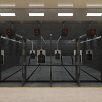 interior scene shooting range 3D model