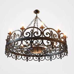 chandelier luster electrolier 3D model