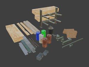 asset pack construction 3D model