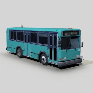 gillig 3096tb m11 shuttle 3D model