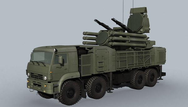 3D model pantsir-s1 adms missiles