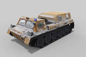 tracked all-terrain vehicle 3D model