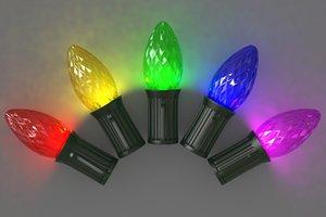3D bulb c7 faceted lights model