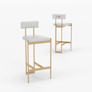 3D architectural visualization alto bar stool model