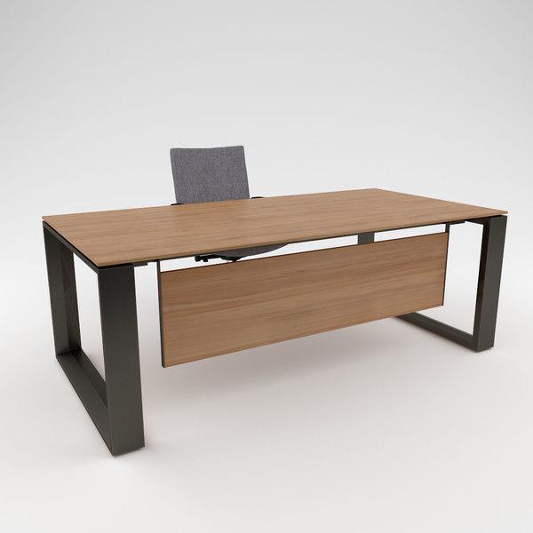Buro Office Desk Modelo 3d Turbosquid, Office Furniture Modern