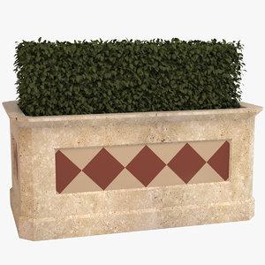 3D deco pot plant