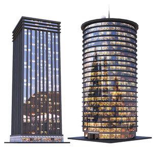 skyscrapers - night model