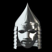 medieval helmet mask 3D model