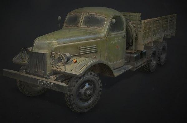 3D truck old zis