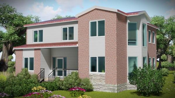 3D model architecture villa bim