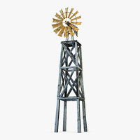 3D old windmill model
