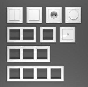 3D sockets abb basic 55