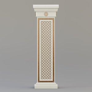 3D column marble concrete model