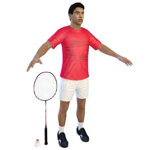 3D badminton player 2