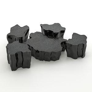 eden tables 3D model