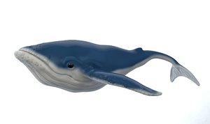 3D whale cartoon
