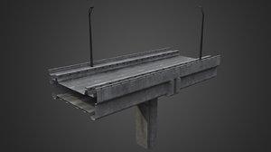 3D bridge overpass element model