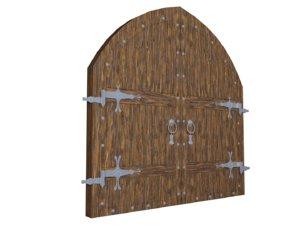 arch double door model