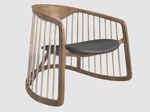 mecedora duchauffour-lawrance bernhardt design 3D