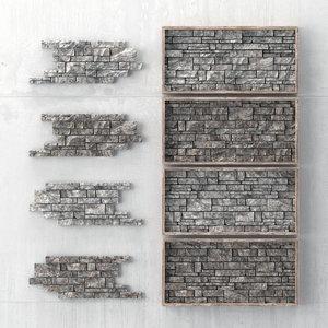 panel rock decor 3D model