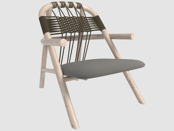3D woven unam lounge chair model