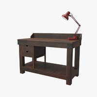 3D model old work bench