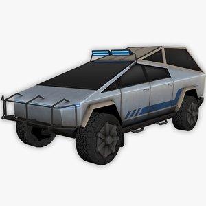 tesla cybertruck truck 3D model