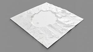 crater lake oregon usa 3D