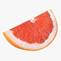 3D realistic grapefruit slice
