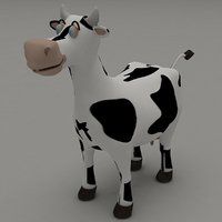 3D cartoon animal cow toon model
