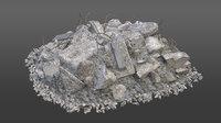 pile concrete element 3D