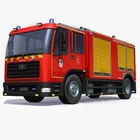 3D france firetruck model