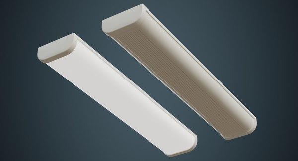 fluorescent bulb 2a 3D model