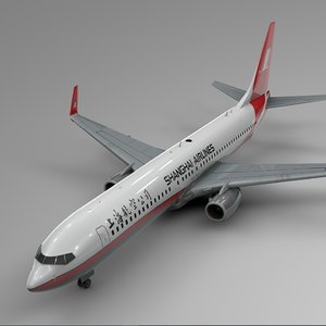 3D shanghai airlines boeing 737-800