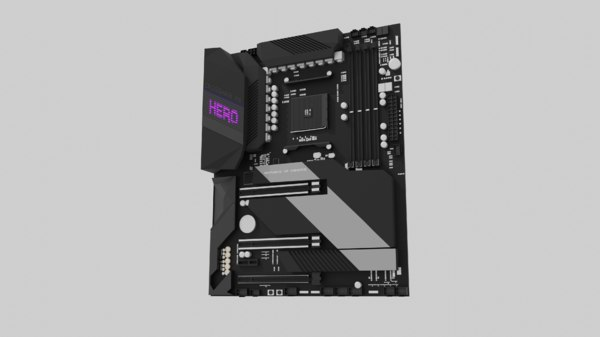 asus crosshair viii hero 3D model