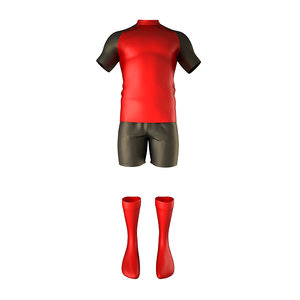 3D rugby jersey model