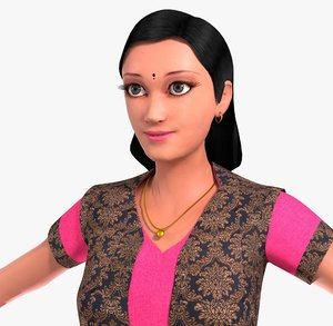 character indian girl model