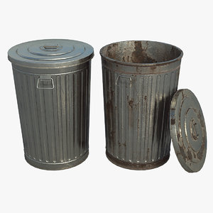 pbr dustbin model