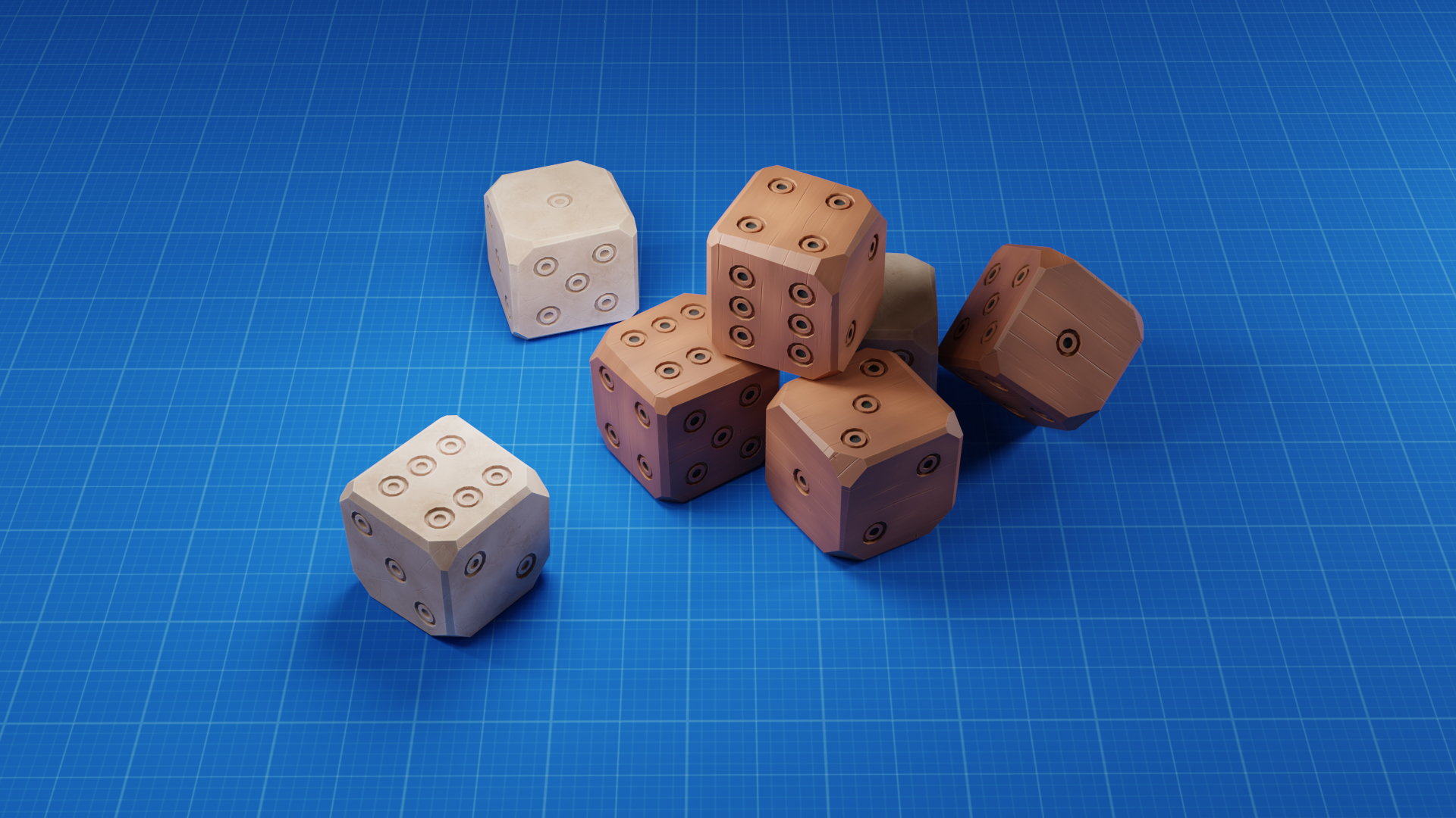 Stylised Old Dice Bone 3d Turbosquid 1479056