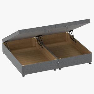 3D bed base 07 open
