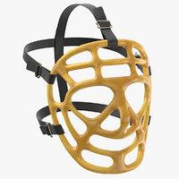 3D model ice hockey goalie mask