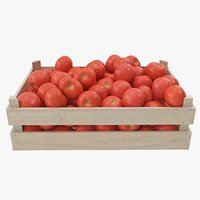 tomatoes 03-04 wooden crate 3D