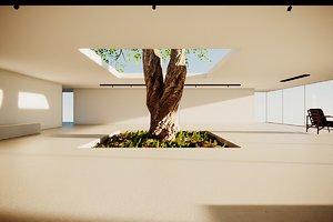 3D model vr hub lobby scene