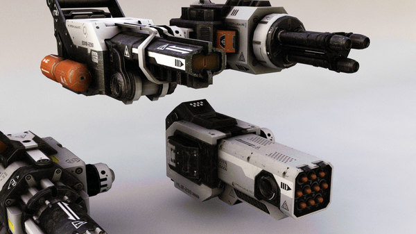 3D robotic gun model